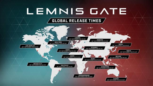 Lemnis Gate Global Release Times